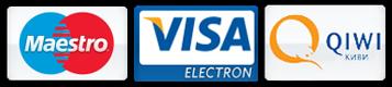 Viza, MasterCard, Qiwi