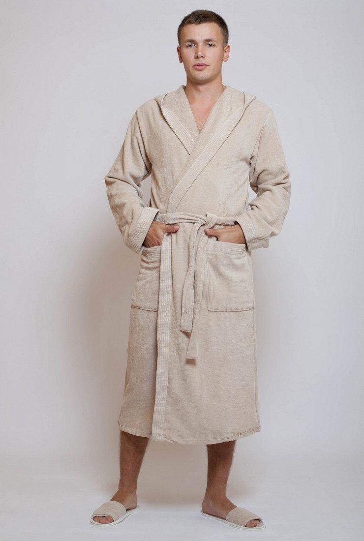 71613235106ee Купить велюровый мужской махровый халат с капюшоном - Спорт велюр