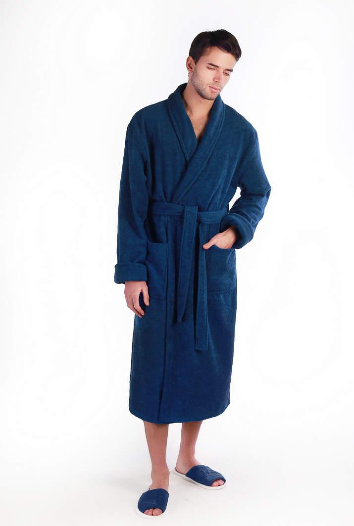 ab40b4945203 Купить однотонный домашний мужской махровый халат - Элегия